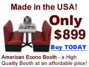 The American Econo Booth: a high quality booth at an affordable price!