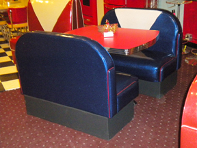 art deco booth set