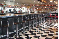 floor mounted backed restaurant counter stools