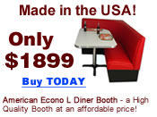 Econo L Shape Diner Booth: a quality L shaped diner booth at an affordable price